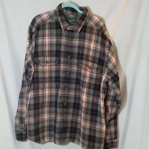 Woolrich Heavy Cotton Button Down Over Shirt XXL